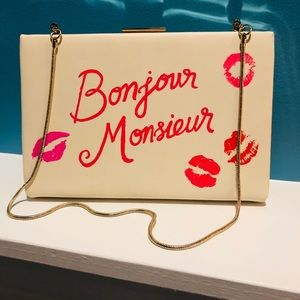 Kate Spade Bonjour Monsieur Clutch/Shoulder Bag